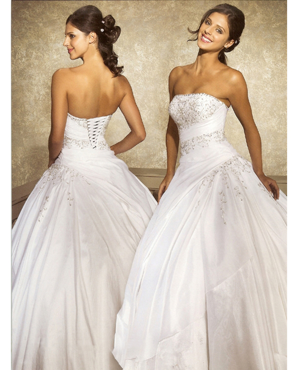 Elegant Ivory Draped Ball Gown Strapless Floor Length Quinceanera Dresses With Beading