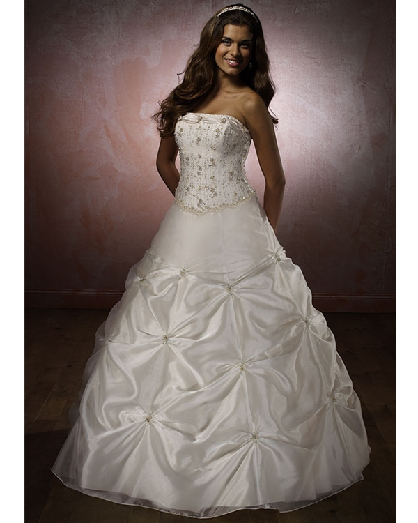 Ivory Strapless Ball Gown Floor Length Quinceanera Dresses With Beadings And Drapes