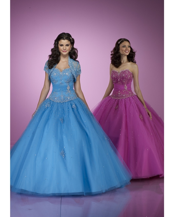 Peaceful Blue Ball Gown Strapless Sweetheart Floor Length Tulle Quinceanera Dresses With Emboridery