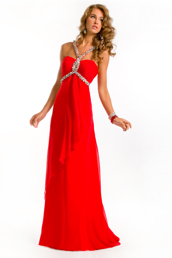 Gorgeous Scarlet Floor Length Strap And Sweetheart Open Back Empire Sexy Dresses With Sequins