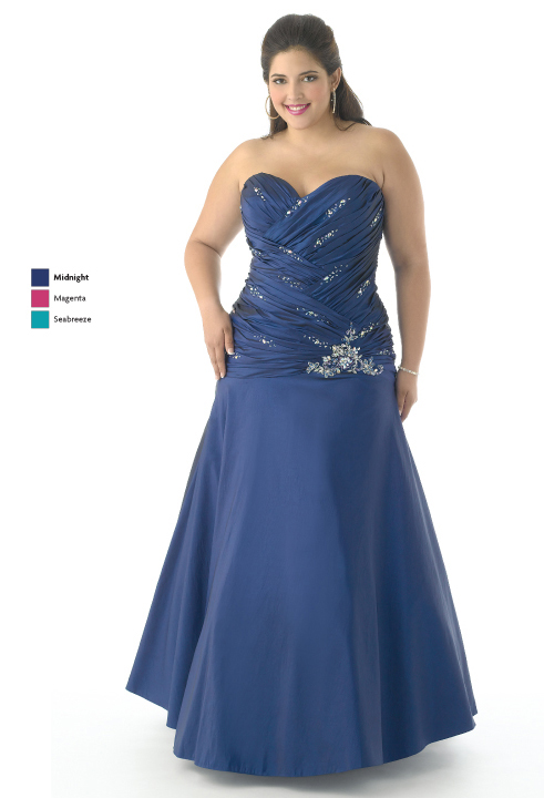 Midnight A Line Strapless Sweetheart Lace Up Full Length Satin Prom Dresses With Sequinsand Drapes