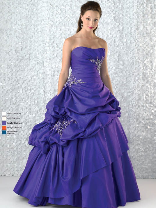 Violet Ball Gown Strapless Lace Up Full Length Quinceanera Dresses With Beading Embroidery And Twist Drapes