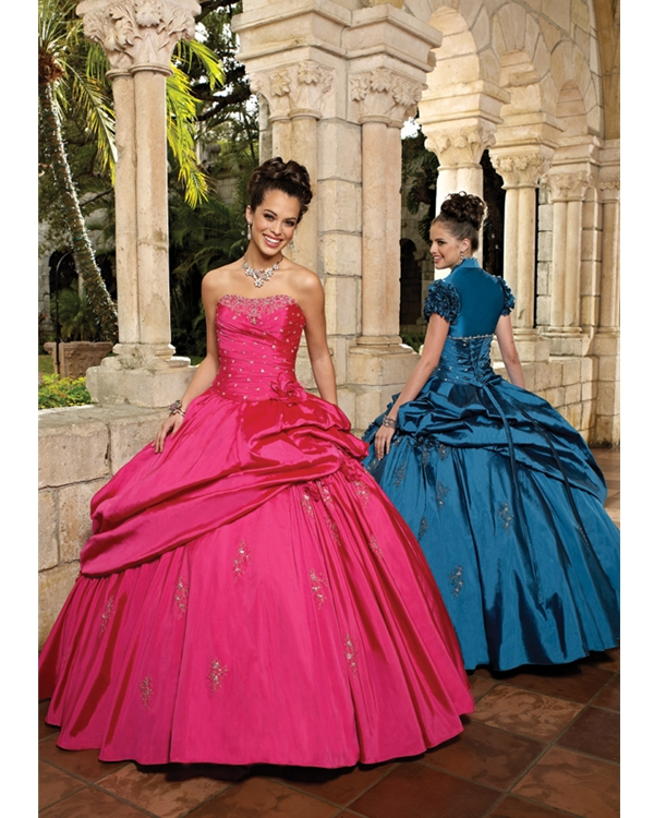 Fuchsia Ball Gown Strapless Lace Up Floor Length Sequined And Ruffled Quinceanera Dresses