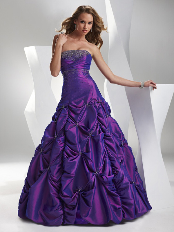 Purple Ball Gown Strapless Sweetheart Lace Up Full Length Quinceanera Dresses With Sequins And Ruffles
