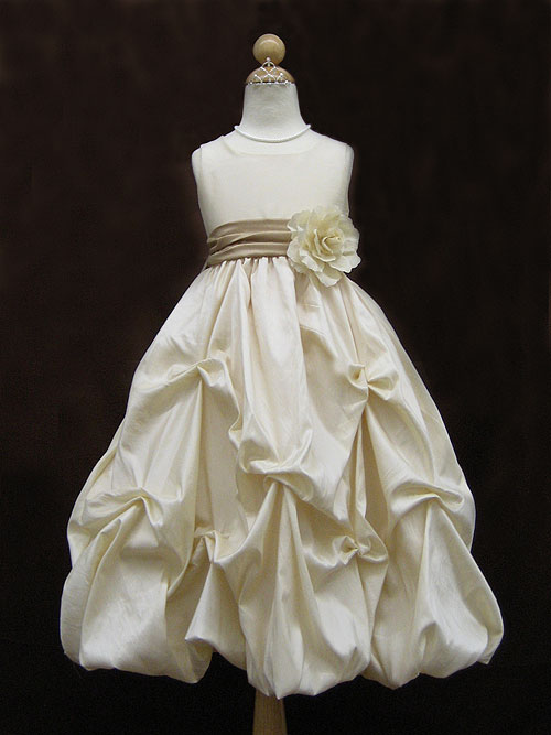 8b65ef8cde6 Bateau Zipper Ankle Length Ivory A Line Flower Girl Dresses With Flower  Belt And Twist Drapes