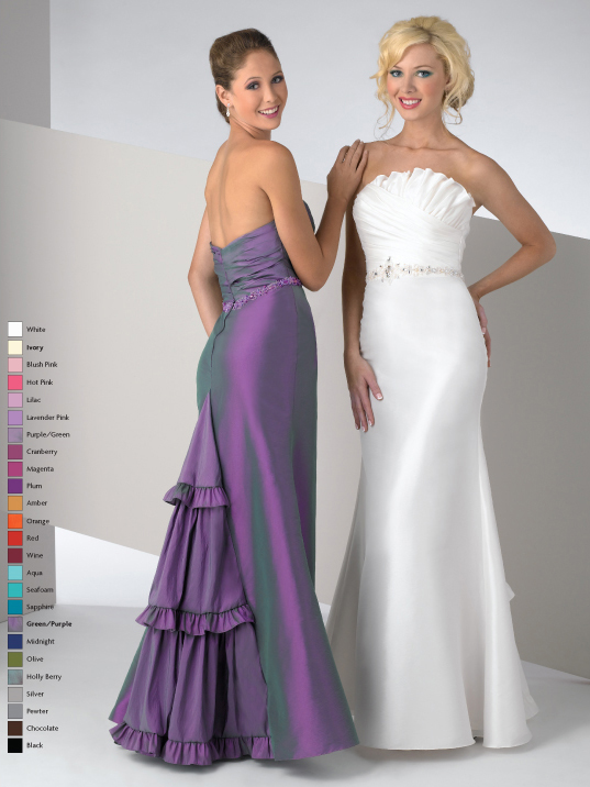 White Mermaid Strapless Zipper Floor Length Satin Prom Dresses With Beading And Ruffles