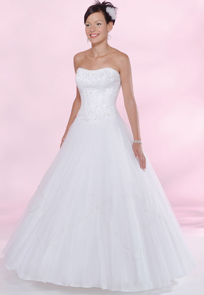 White A Line Strapless Zipper Floor Length Quinceanera Dresses With Beading Embroidery