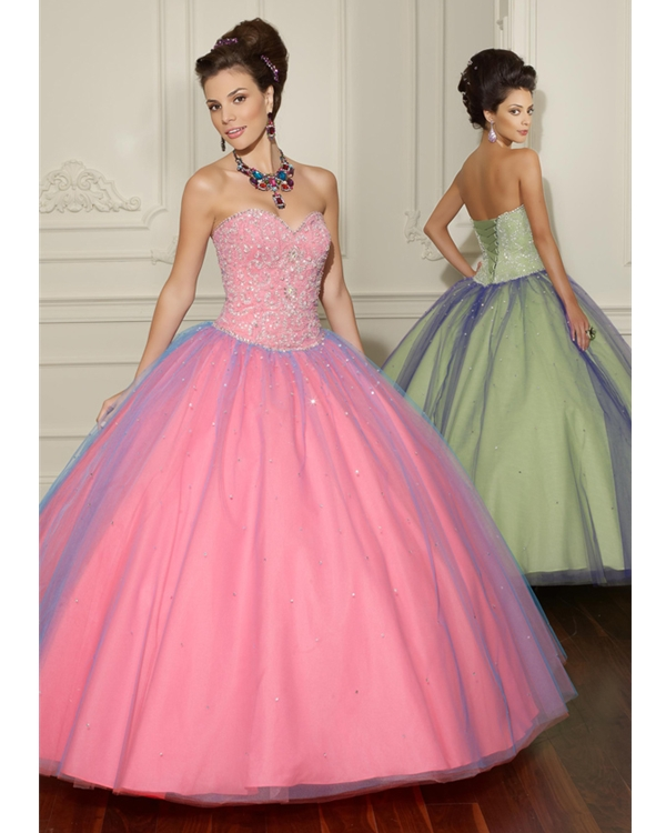 Pearl Pink Ball Gown Strapless Sweetheart Zipper Full Length Quinceanera Dresses With Sequins And Ruffles