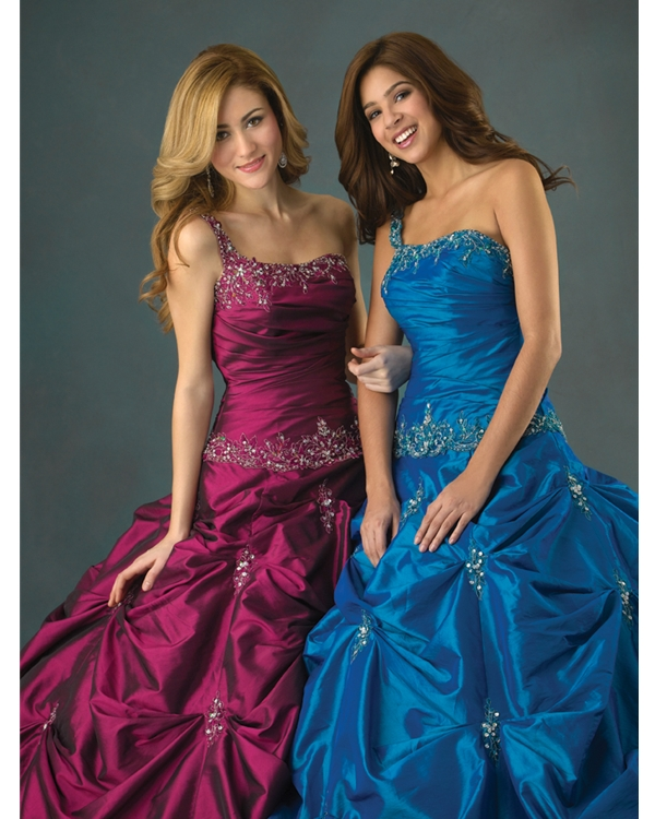 Purple Ball Gown One Shoulder Lace Up Floor Length Beading Embroidered Quinceanera Dresses