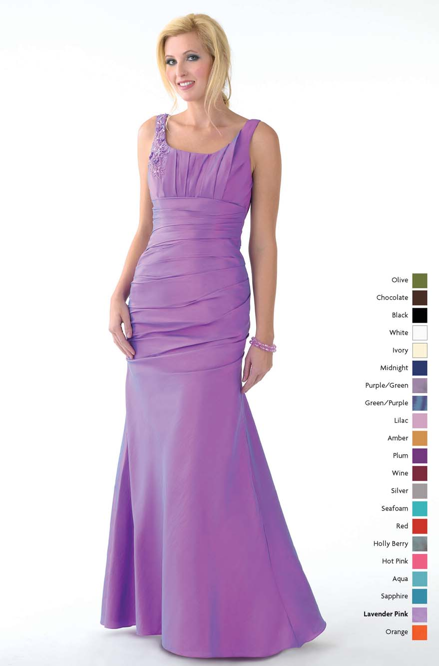 Purple Mermaid Square Neckline And Strap Floor Length Prom Dresses With Beading And Ruffles