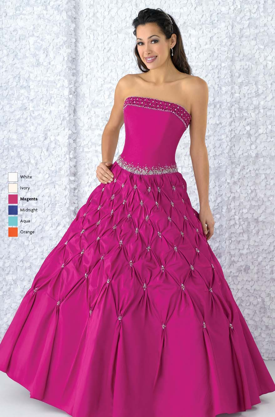 Fuchsia Ball Gown Strapless Lace Up Floor Length Quinceanera Dresses With Sequins And Twist Drapes