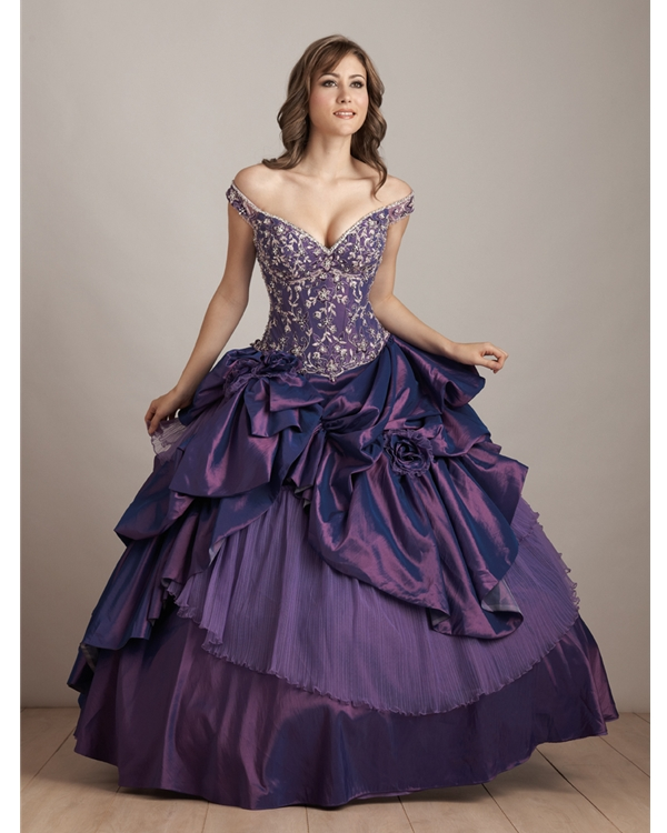 65c150db842 Regency Ball Gown Off The Shoulder Lace Up Floor Length Quinceanera Dresses  With Embroidery And Ruffles