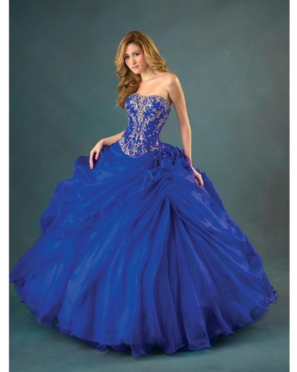 Royal Blue Ball Gown Strapless Full Length Tulle ...  Royal Blue Ball...