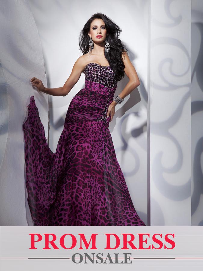 Leopard Print Sequin Prom Dresses