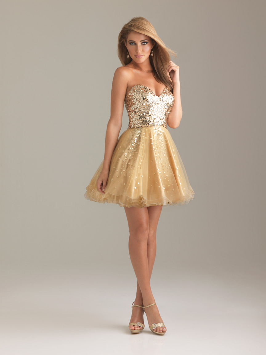 Gold Cocktail Dress for Sale