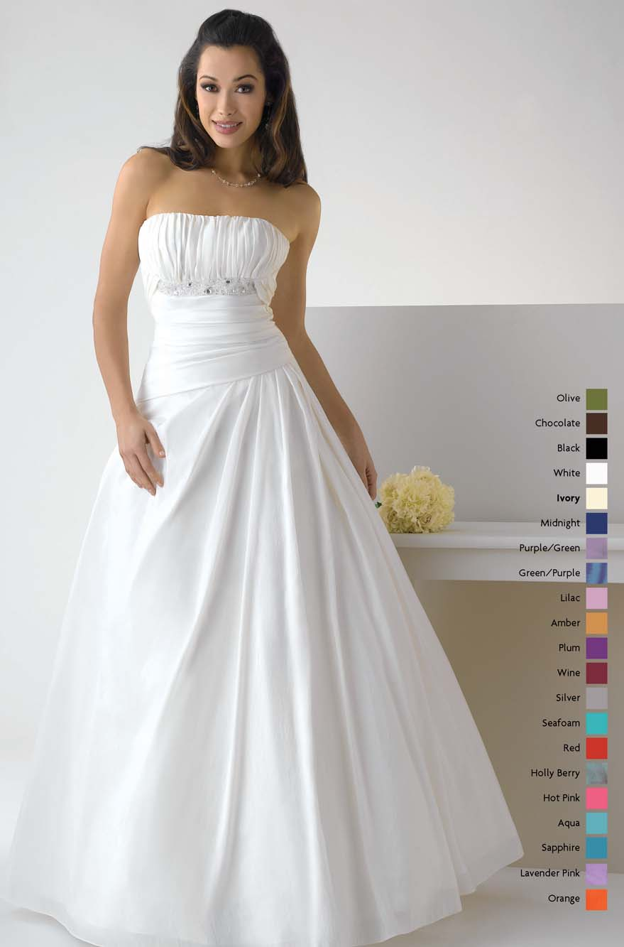 White A Line Strapless Zipper Floor Length Chiffon Prom Dresses With Beading And Drapes