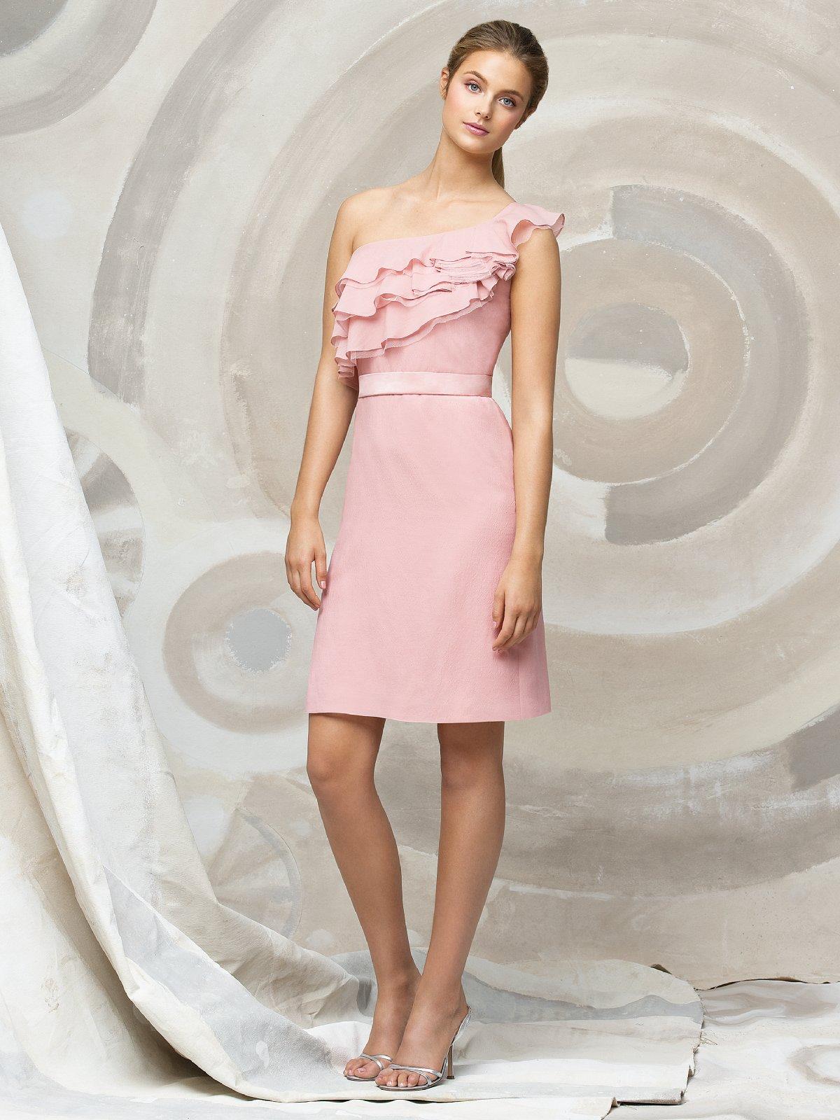 e26de69423ea Pink Knee Length Bridesmaid Dresses Uk - raveitsafe