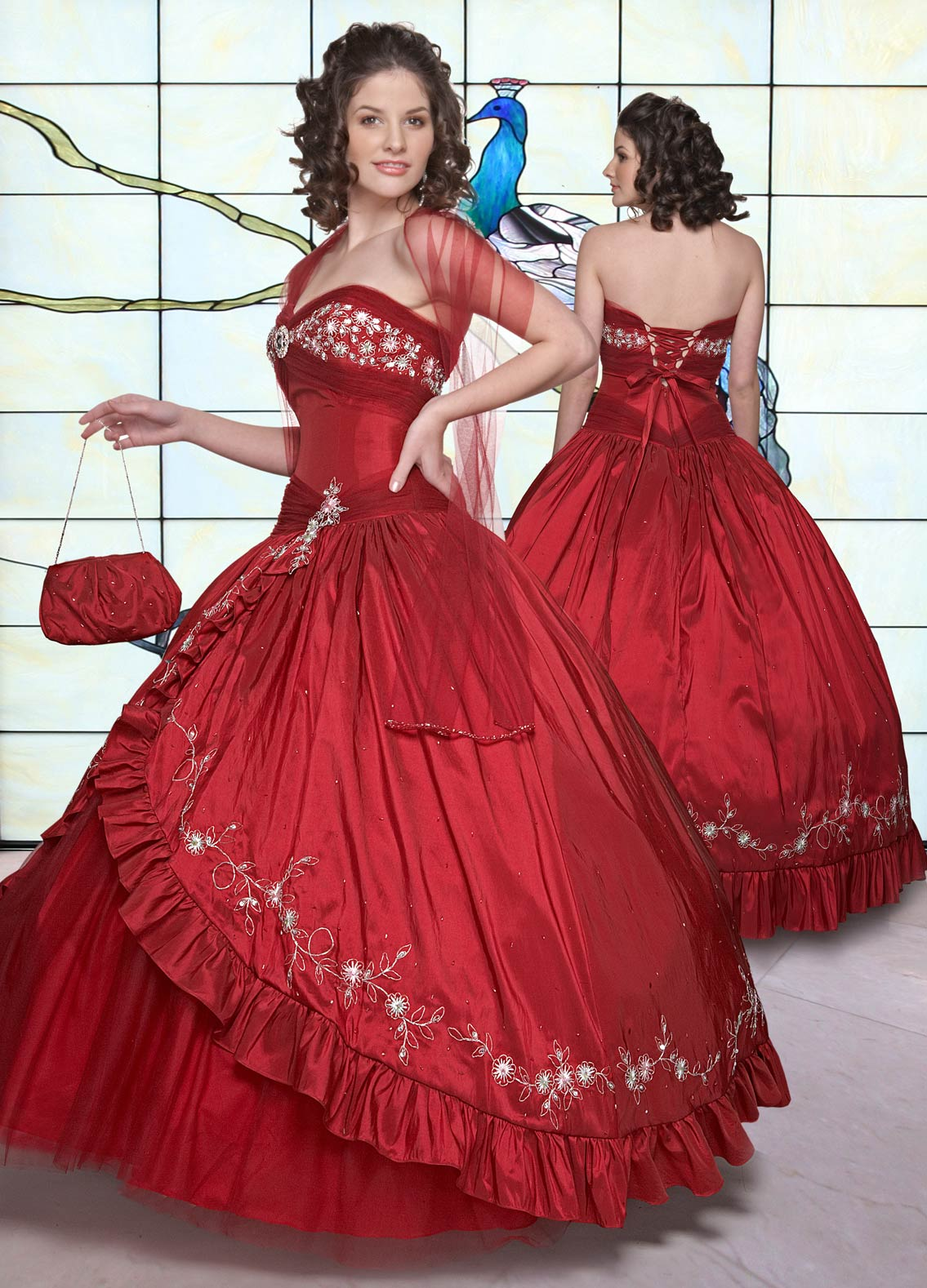 44de8cef658 Sweetheart and Strapless Lace up Floor Length Red Ball Gown Embroidered and  Pleated Quinceanera Dresses