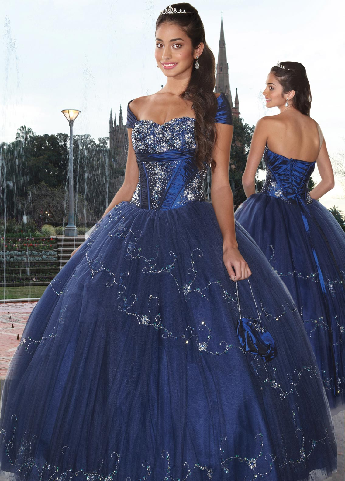 32fe2b0e1 Dark Royal Blue Ball Gown Cap Sleeved and Sweetheart Lace up Full Length Quinceanera  Dresses With Beading Embroidery
