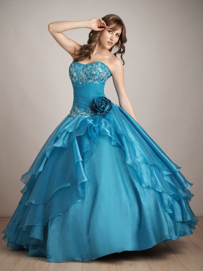 Turquoise Ball Gown Strapless Sweetheart Lace up Full Length Beaded and  Ruffled Quinceanera Dresses e06e6a64f