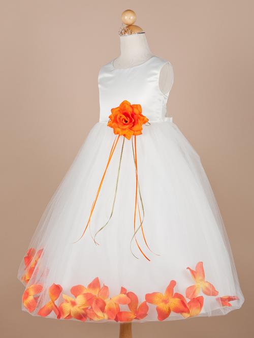 Unique orange and white flower girl dresses image best evening outstanding orange and white flower girl dresses photo best mightylinksfo