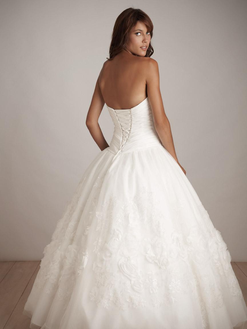 White Ball Gown Strapless Sweetheart Full Length